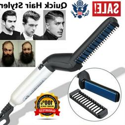 Brush Beard Comb Hair Straightener For Men Multifunctional C