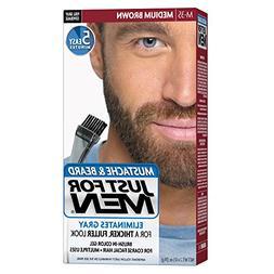 Just for Men Brush in Color Gel, Mustache and Beard, Medium
