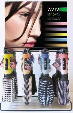 Bulk Buys Viva Bright Professional Hairbrushes In Display -