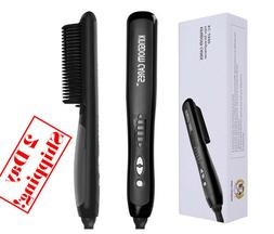 KINGDOMCARES Hair Straightening Brush, Silky Frizz-free Port