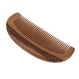 Women Girls Natural Art Carving Wood Anti Static Hair Brush
