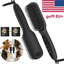 hair straightener flat iron straightening brush hot