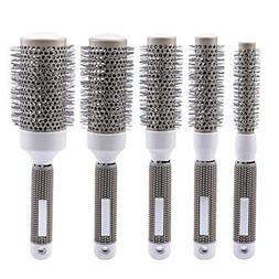 inkint 5pcs Round Hair Brush Set Ionic Thermal Hair Brush De