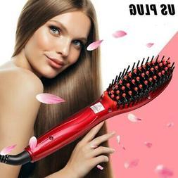 ceramic straightening hair brush anion straightener electric
