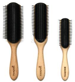 DENMAN CLASSIC STYLER BEECHWOOD HAIR STYLING BRUSH WOOD HAND