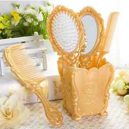 Dolovemk Girls Cosmetic Classical Make-up Hand Hair Comb Mir