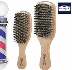 Scalpmaster Club and Wave Boar Bristle Brush Set - Medium to