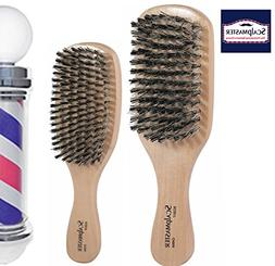 Scalpmaster Club and Wave Boar Bristle Brush Set - Medium to