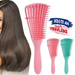 Curly Natural Hair Hair Combing Brush With Wet/Dry Detanglin