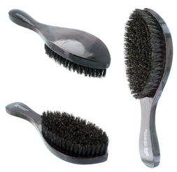 curved soft boar bristle wave hair brush
