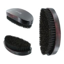 Curved Soft Boar Bristle Wave Hair Military Palm Brush Woode