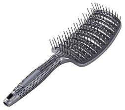 Curved Vent Brush, Barber Blow Drying Brush with Nylon Detan