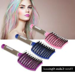 Curved Vented Boar Bristle Styling Hair Brush, For Any Hair