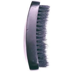 Diane #D1002 Military Curved 100% Soft Boar Bristle Hair Bru