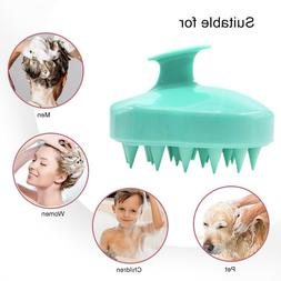 Dandruff Relief Scalp Brush Shampoo Massaging Silicone Salon
