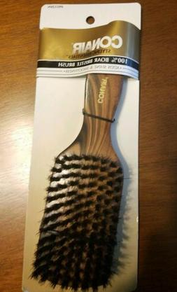CONAIR - Dark Wood 100% Boar Bristle Hair Brush - 1 Brush