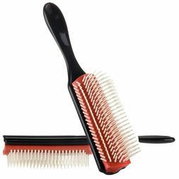 Denman Cushion Brush Bristles 9-Row Detangle Distribute ِCo