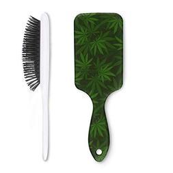 Unisex Detangle Hair Brush cannabis flower pot bloom Boar Br