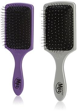 Wet Brush Pro Detangle Paddle Hair Brush, Silver & Purple Du
