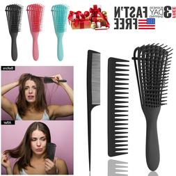 Detangler Hair Comb Brush Anti-Static Scalp Hair Styling Sal