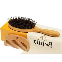Detangling Boar Bristle Hair Brush Set for Women, Men And Ki
