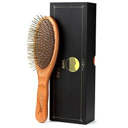 BFWood Detangling Brush for Thick and Curly Hair - Wooden Ha