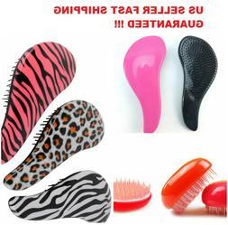 Detangling Hair Brush Comb Zebra Cheetah Animal Egg Wet Dry