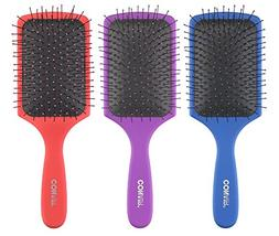 Conair Detangling Paddle Brush Set, 3pc