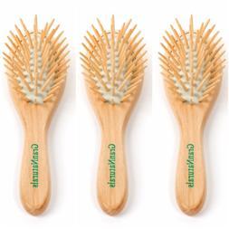 GranNaturals Detangling Wooden Bristle Hair Brush - Small, T