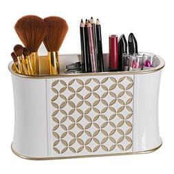 Makeup Brush Holder, Diamond Lattice Bathroom Organizer Coun