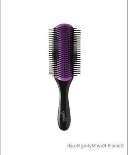 Diane 9-Row Professional Styling Brush Detangler, Denman Cus
