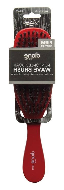 Diane Wave Firm Brush  #9007 Red, Boar bristles, reinforced