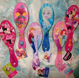 GIRL'S HAIR BRUSH VAMPIRINA/TROLLS/FROZEN/ELSA/MINNIE/PRINCE