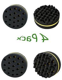 Tinsay 4 Pcs Double Barber Hair Brush Sponge For Dreads Lock