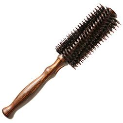 Double Bristle Round Hair Brush with Natural Soft Boar Brist
