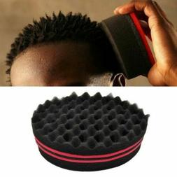 Double Side Barber Hair Brush Sponge Twist Dreads Coil Afro