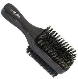 DIANE - DOUBLE SIDED HARD & SOFT 100% BOAR BRISTLE BRUSH, BL
