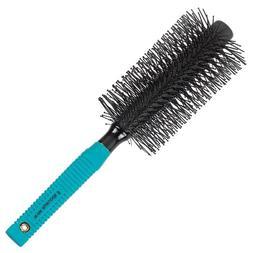 double stranded nylon tipped round hair brush