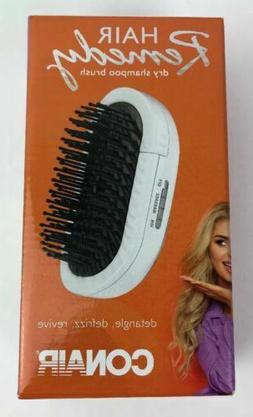Conair Dry Shampoo Brush; Detangle, Defrizz, Revive with the