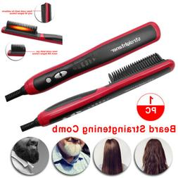 Electric Hair Straightener Digital Quick Heated Beard Hair B