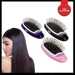 electric ionic hairbrush comb magic portable negative
