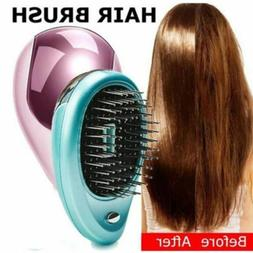 Electric Ionic Portable Hair Brush Mini Massage Travel Frizz