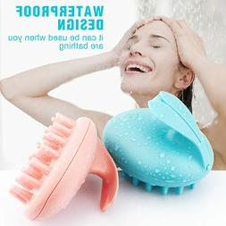Electric Waterproof Hair Head Massage Comb Scalp Shampoo Vib