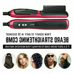 Fast Iron Ceramic Straight Hair Brush Straightener Electric