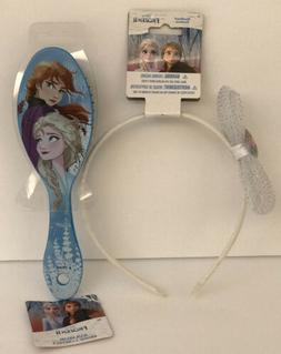 Disney Frozen 2 Elsa Anna Snow Queen Princess Hair Brush & H