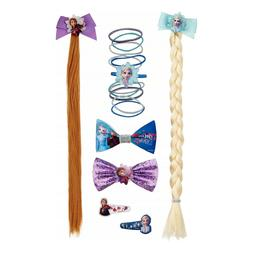 Disney Frozen 2 Hair Accessory Gift Set with Bows, Clips & H
