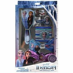 Disney Frozen Hair Accessories Brush Bows Clips Ponytail Set