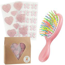 Create Your Own Craft Gift For Kids Hairbrush With Bling Hea