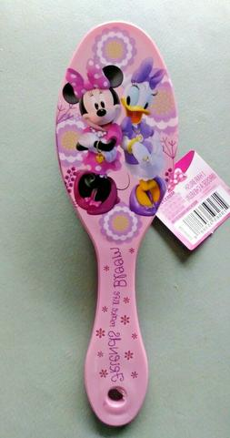 "GIRL'S Pink  DISNEY MINNIE MOUSE HAIR BRUSH 7"" OVAL PADDLE S"