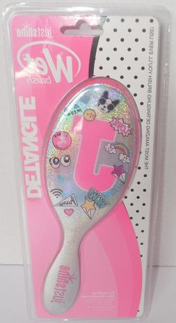 Justice Girls Just Shine Initial Emoji Hair Wet Brush Detang